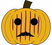 pumpkin face cartoon emotion expression scary