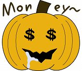 pumpkin face cartoon emotion expression greed