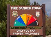 U.s. Forest Service Fire Danger Sign