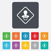 Baby on board sign icon. Infant caution symbol.