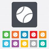 Baseball ball sign icon. Sport symbol.