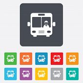 picture of bus driver  - Bus sign icon - JPG