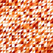 Tile vector pattern with white, red, brown, yellow and orange triangle mosaic background