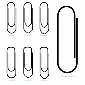 Paperclip Icon In Black Vector Illustration