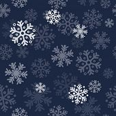 Abstract blue christmas seamless pattern background with snowflakes