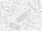 Collection of words referring to taxes in the UK.