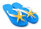 Blue Flip Flops With Starfish