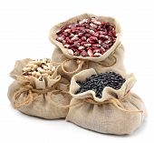 image of kidney beans  - red kidney beans black beans and black - JPG