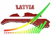 Illustration Map Of Latvia