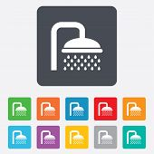 Shower sign icon