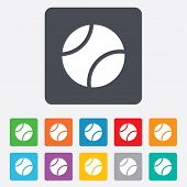 Tennis ball sign icon. Sport symbol.