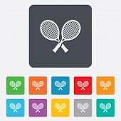 Tennis rackets sign icon. Sport symbol.
