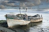 Three Derelict Fishing Trawlers