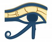 stock photo of horus  - The Eye of Horus was believed by the ancient Egyptians to have healing and protective powers - JPG