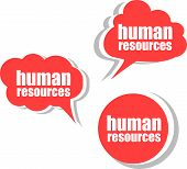 Human Resources . Set Of Stickers, Labels, Tags. Template For Infographics