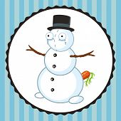 Crazy Crying Snowman With Carrot