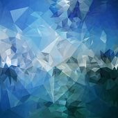 Blue abstract background, triangle design vector illustration