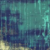 Grunge background with vintage and retro design elements. With different color patterns: blue, green, gray