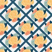 Vector seamless  flowers pattern with roses