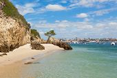 Beautiful Beach Of Setubal Near Lisbon Portugal