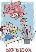 Back To School Cartoon Illustration