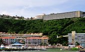 pic of conquistadors  - The picturesque El Conquistador hotel as seen from the ocean below - JPG