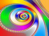 Colorful Fractal Backdrop
