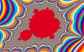 image of mandelbrot  - Digital visualization of a colourful fractal called Mandelbrot set - JPG