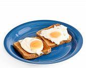 Two eggs sunnyside up