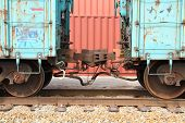 Two box cars connected