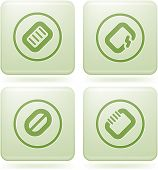 Olivine Square 2D Icons Set: Computer Stuff