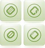 Olivine Square 2D Icons Set: Computer Stuff
