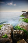 Nice long exposure seascape.