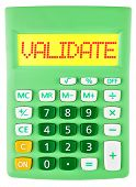 Calculator With Validate On Display On White