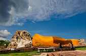 Buddha Panorama Statue Lying Ayuttaya