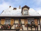 Alsatian House In Winter
