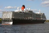 The big Cruise Ship Queen Elisabeth