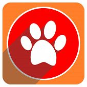 image of flat-foot  - foot red flat icon isolated - JPG