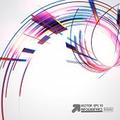 Abstract technology lines vector background