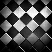 metallic grid pattern