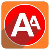 alphabet red flat icon isolated