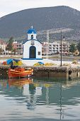 stock photo of nea  - A picturesque spot of the little port of the town of Nea Artaki - JPG