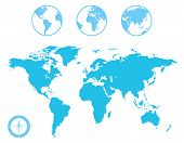 World Map and Globe Icons