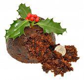 Christmas Pudding And Holly