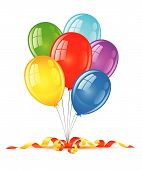 coloured balloons for birthday holiday celebration