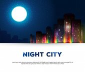 Night urban city background