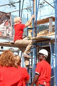 LOS ANGELES - OCT 25:  Emily Bergl at the Habitat for Humanity build by Showtime's