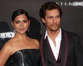 LOS ANGELES - OCT 26:  Camila Alves McConaughey, Matthew McConaughey at the