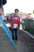 LOS ANGELES - OCT 25:  Ben Schwartz at the Habitat for Humanity build by Showtime's