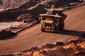 stock photo of open-pit mine  - ARKHANGELSK - JPG